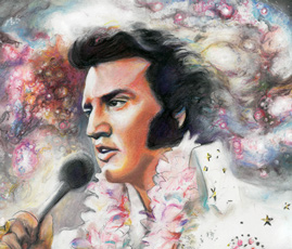 Elvis (detail Thumbnail) Michael Daly artist