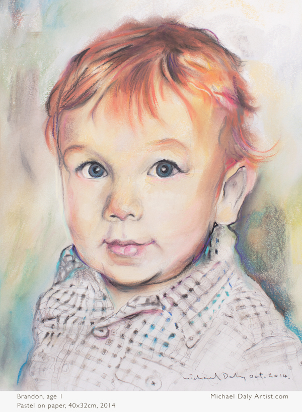 Brandon-colour pastel art portrait by Michael Daly artist