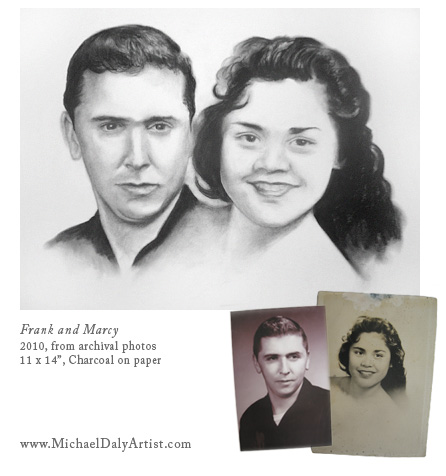"""Frank and Marcy""-portrait by Michael Daly"