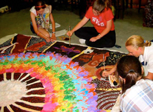 The Lovelink Project-Brisbane students working on Rainbow Dreaming